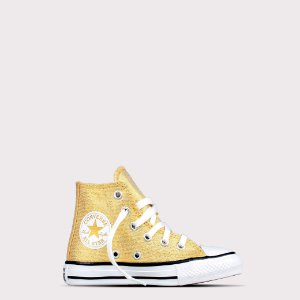 Tênis Converse All Star Hi Kids - Ouro Glitter