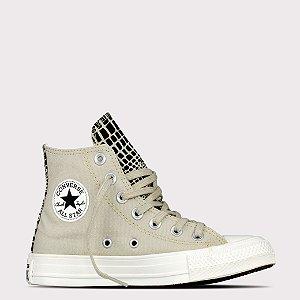 Tênis Converse All Star Chuck Taylor Hi - Bege Claro