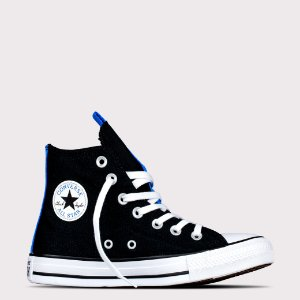 Tênis Converse All Star Chuck Taylor Hi - Preto/Azul Digital