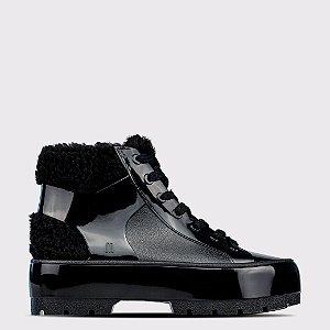 Bota Melissa Fluffy Sneaker - Preto Opaco