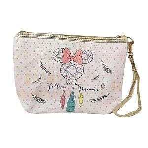 Necessaire Lilás Minnie Mandala - Disney