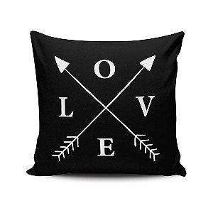 Capa de Almofada Love e Setas