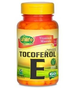 Vitamina E Tocoferol 470mg 60 Cápsulas - Unilife