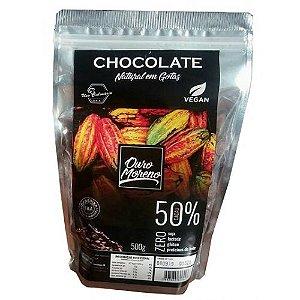 Chocolate 50% Cacau em Gotas 500g - Ouro Moreno