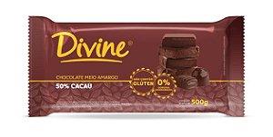 Chocolate 50% Meio Amargo 1kg - Divine