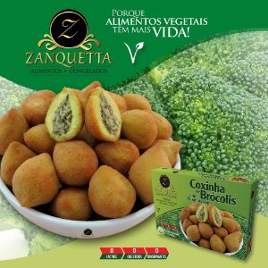 Coxinha de Brócolis c/ Champignon 500g - Zanquetta