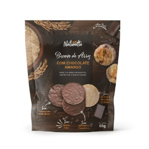 Biscoito de Arroz c/ Chocolate 60g - Naturatta