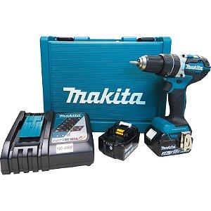 Parafusadeira Furadeira de Impacto à Bateria Makita DHP484RFE