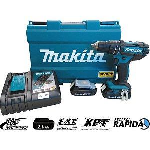 Parafusadeira Furadeira de Impacto à Bateria Makita DHP482RAE