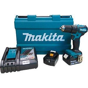 Parafusadeira Furadeira de Impacto à Bateria Makita DHP483RFE