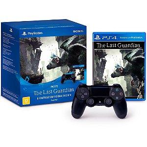 Controle Sony Dualshock 4 Sem fio PS4 Preto e Jogo The Last Guardian