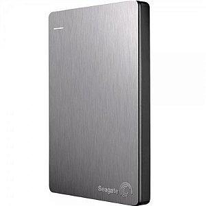 HD Seagate Externo Portátil Backup Plus Slim USB 3.0 2TB Prata - STDR2000101