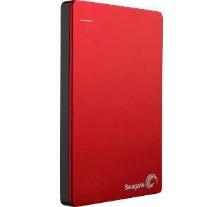HD Seagate Externo Portátil Backup Plus Slim USB 3.0 1TB Vermelho - STDR1000103