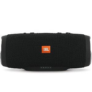 Caixa de Som Portátil Bluetooth JBL Charge 3 Preto à prova d´agua