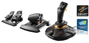 Pedais e Manetes T-16000M Fcs Flight Pack - PC -Thrustmaster
