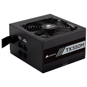 Fonte Corsair 550W 80 Plus Gold SemiModular TX550M CP-9020133-WW