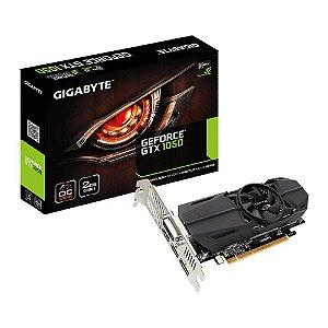 Placa de Vídeo VGA NVIDIA GIGABYTE GEFORCE GTX 1050 2GB OC Low Profile DDR5 PCIE GV-N1050OC-2GL