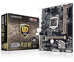 Placa-Mãe Gigabyte p/ Intel LGA 1151 mATX GA-X150M-PLUS WS