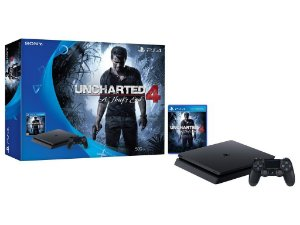 Console Playstation 4 500gb Slim com Jogo Uncharted 4