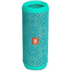 Caixa de Som Portátil Bluetooth Stereo Speaker JBL Flip 4 Mosaic / Verde À Prova d'agua