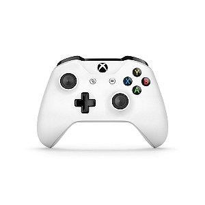 Controle Xbox One S Wireless Bluetooth Branco - Microsoft