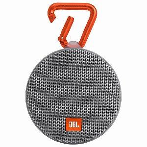 Caixa de som Bluetooth JBL A Prova d água 3W Clip 2 Cinza