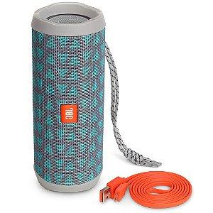 Caixa de Som Portátil Bluetooth Stereo Speaker JBL Flip 4 Trio À Prova d'agua