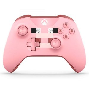 Controle Xbox One S Wireless Bluetooth Minecraft Pig - Microsoft
