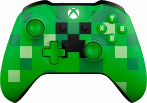 Controle Xbox One S Wireless Bluetooth Minecraft Creeper - Microsoft