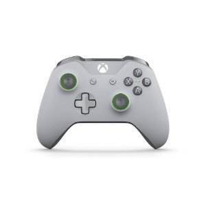 Controle Xbox One S Wireless Bluetooth Grooby Cinza e Verde - Microsoft