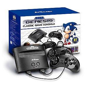 Console Sega Genesis Classic Game Mega Drive + 81 Jogos