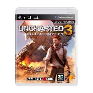 Jogo Uncharted 3: Drake's Deception - PS3 (usado)