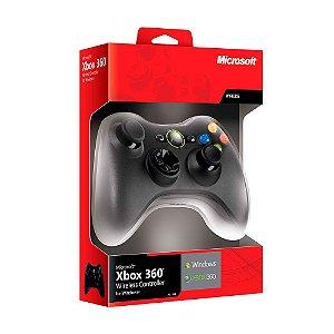Controle Xbox 360 sem fio com adaptador para PC - Microsoft