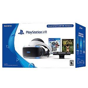 PlayStation VR Bundle com Câmera e Astro Bot + Moss - PS4