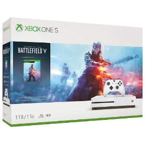 Console Xbox One S 1TB Bundle Battlefield V + Game Pass + Live Gold - Microsoft