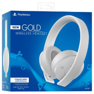 Headset Sony New Gold Wirelles CUHYA-0080 Branco - PS4