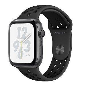 Apple Watch S4, GPS, 40 mm, Alumínio Cinza Espacial, Pulseira Esportiva Nike Preto/Cinza-carvão