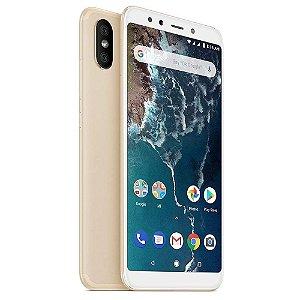 """Smartphone Xiaomi Mi A2 32GB LTE Dual Sim 5,99"""" Câm.20MP/12MP+20MP - Dourado"""