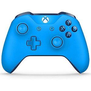 Controle Xbox One S Wireless Bluetooth Grooby Azul - Microsoft