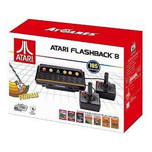 Console Retro Atari Flashback 8 Classic Game com 105 Jogos