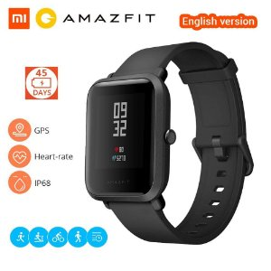 Relógio Xiaomi Amazfit Bip A1608 (Versão Internacional) - Preto