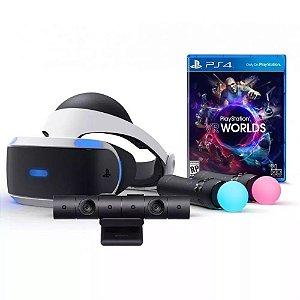 Playstation VR Bundle com jogo Worlds