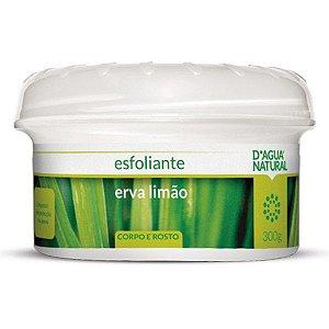Creme Esfoliante Corpo e Rosto Erva-Limão 300g D'Agua Natural