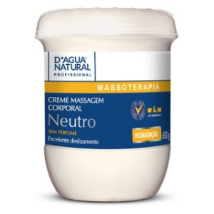Creme de Massagem Neutro 650g D'Agua Natural