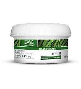 Creme de Massagem Relaxante Erva Limão 300g D'Agua Natural