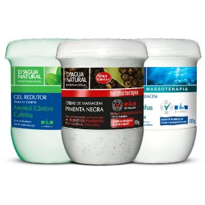 D'Agua Natural Kit Creme Pimenta Negra + Gel Redutor + Algas