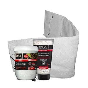 D'Agua Natural Kit Creme e Gel Pimenta Negra + Cinta Térmica Profissional