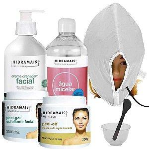 Kit Tratamento Facial Profissional Hidramais Com Máscara Térmica Santa Clara
