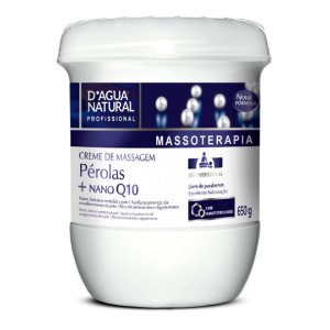 Creme de Massagem Pérolas + Nano Q10 650g D'Água Natural