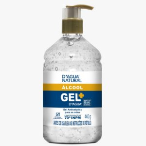 Gel Antisséptico para as Mãos 440g D'Agua Natural